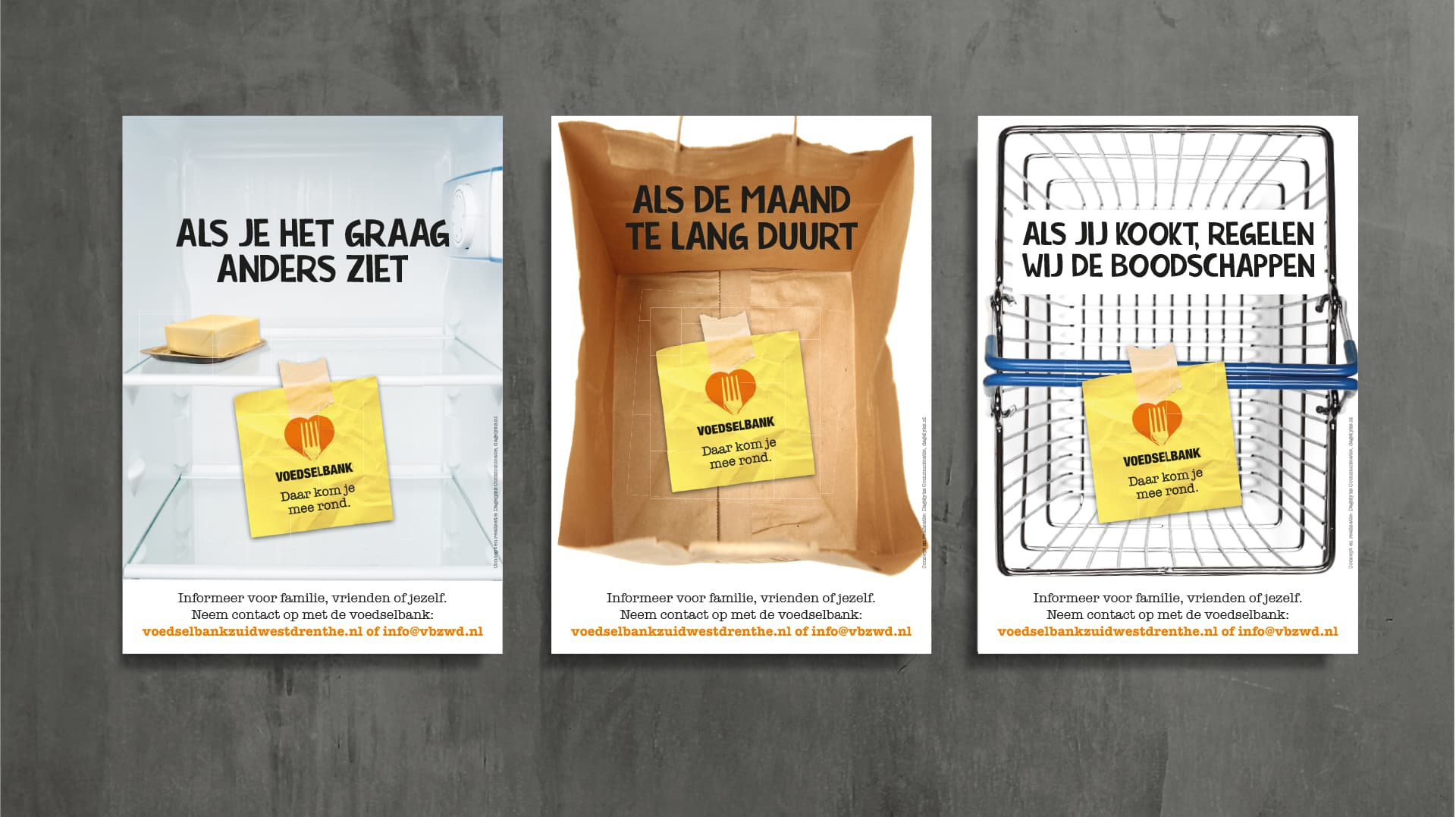 Voedselbank campagne posters reclame