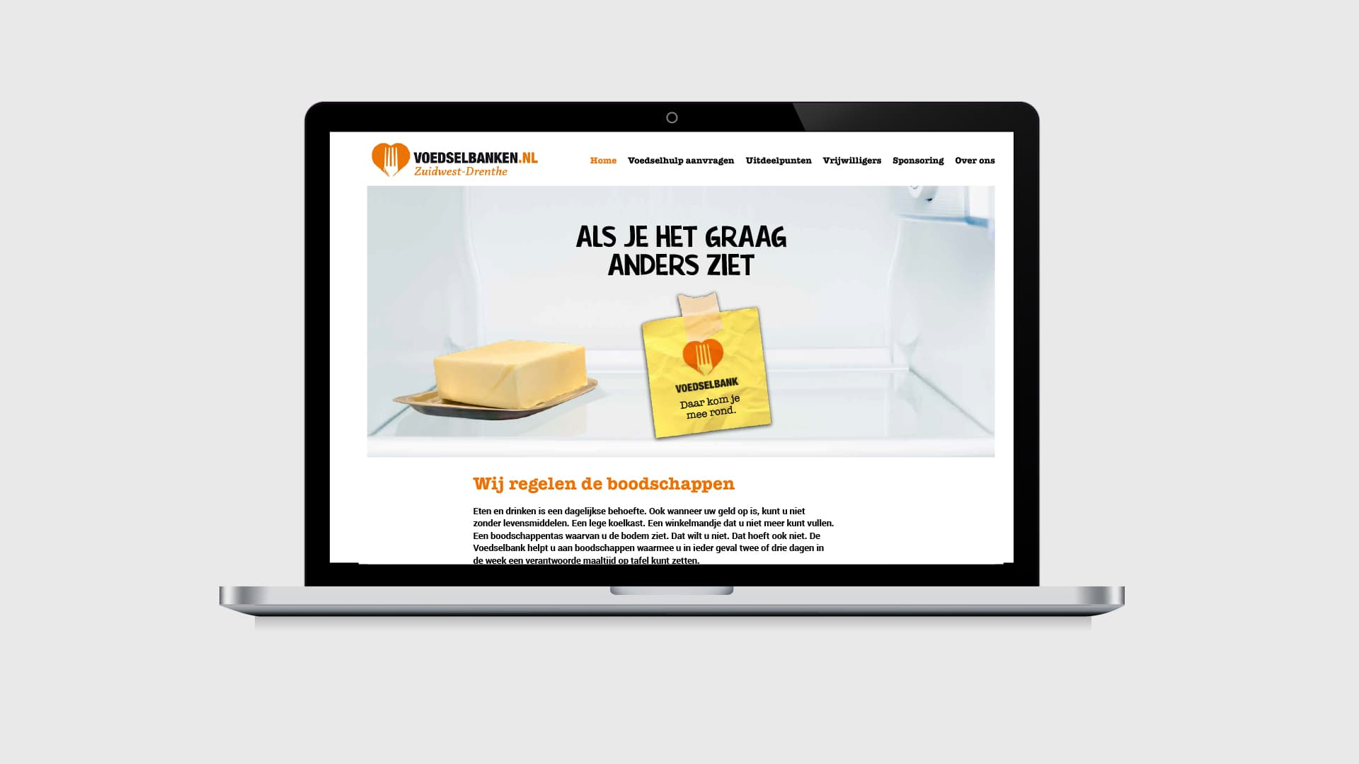 Voedselbank campagne website